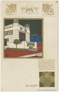 Secession building, from the series by Ver Sacrum Josef Hoffmann.